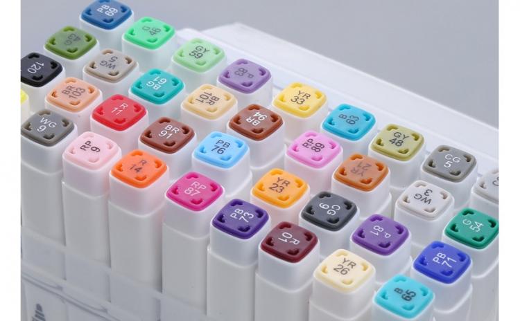 Set markere pentru colorat, 48 culori