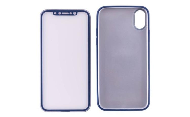 Husa 360 Silicon iPhone X / 10 -Albastru