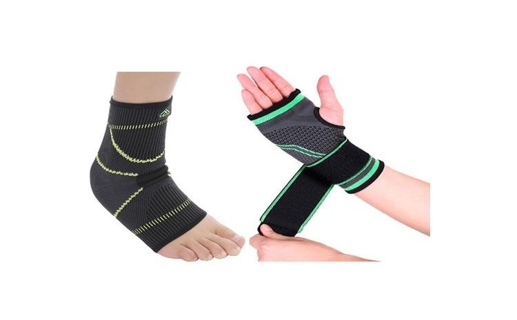 Suport elastic pentru glezna + Suport pentru incheietura mainii