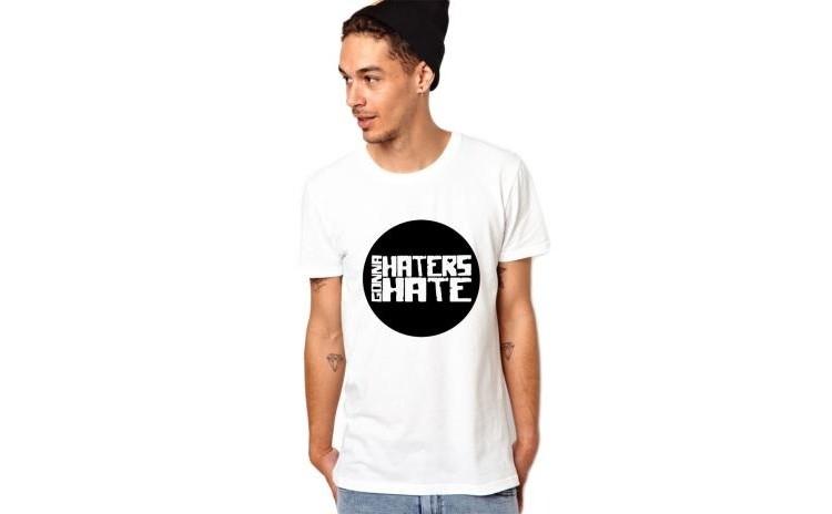 Tricou barbati alb, Haters Gonna Hate 2