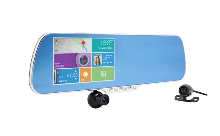 Camera Auto Dubla tip Oglinda cu GPS Android Allwinner X7 FullHD