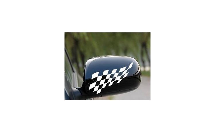 Sticker oglinda RACE FLAG (set 2 buc.)