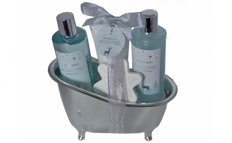 Set cadou in cadita cu 4 produse aroma f