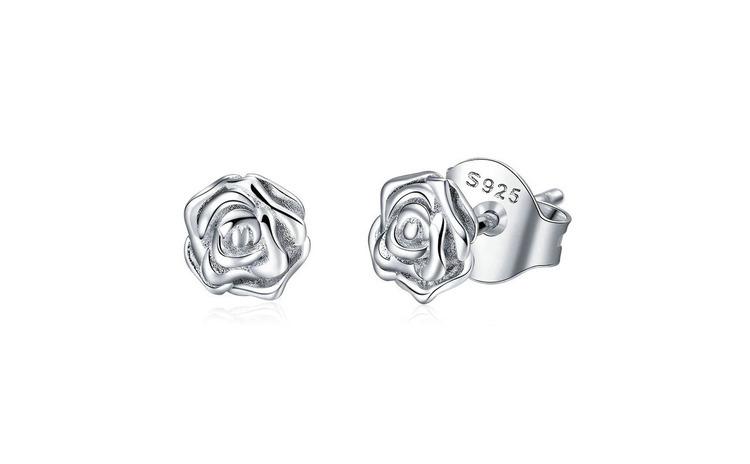 Cercei din argint 925 Romantic Rose