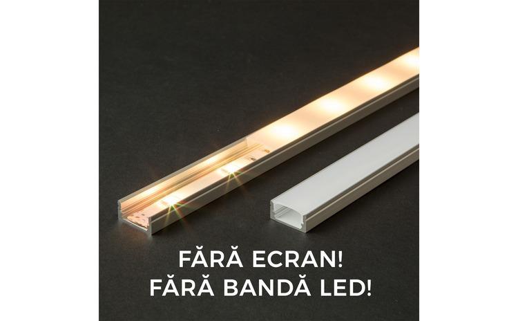 Profil U din aluminiu pt. benzi LED
