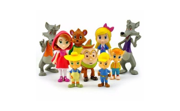 Set 9 figurine Goldie & Bear