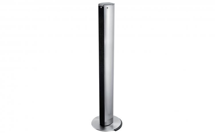 Imagine indisponibila pentru Ventilator turn Trisa Star Line Cod 9326.47, Telecomanda, Putere 40W, 3 viteze, Inaltime 120cm, Flux de aer puternic, Gri / Argintiu