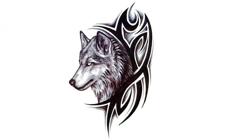 Tatuaj temporar tribal-lup, SX-013