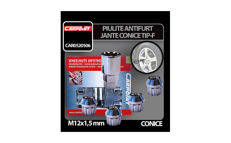 Piulite antifurt jante conice M12x1,5mm