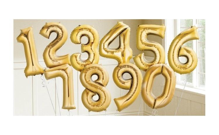 Baloane in forma de cifre - 85 cm