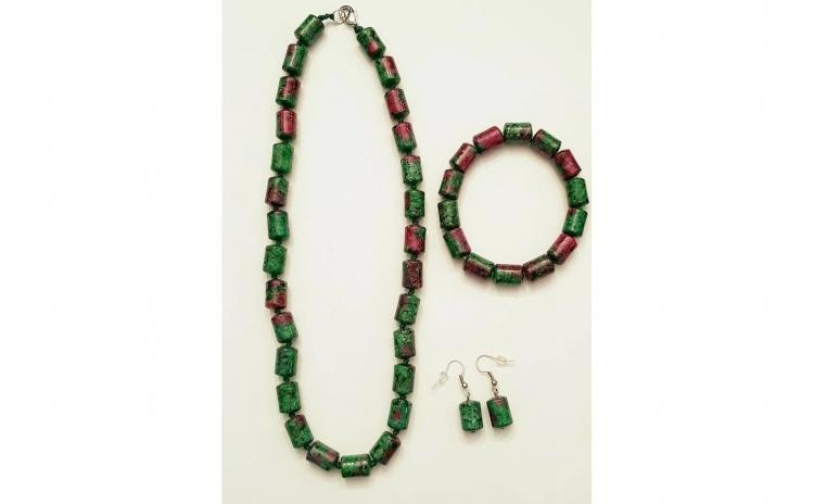 Set bijuterii handmade cu malahit