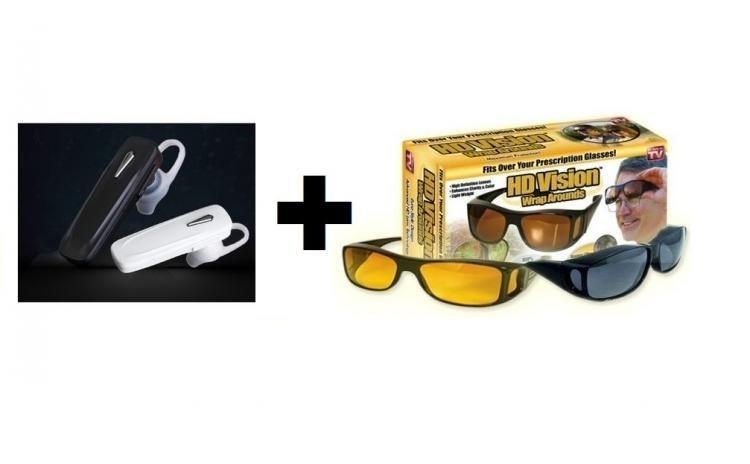 Pachet casca Bluetooth + ochelari