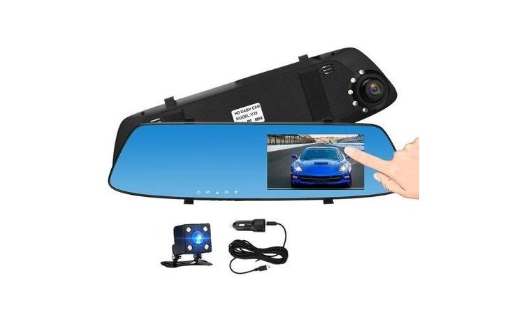 Oglinda camera video auto dubla cu ecran