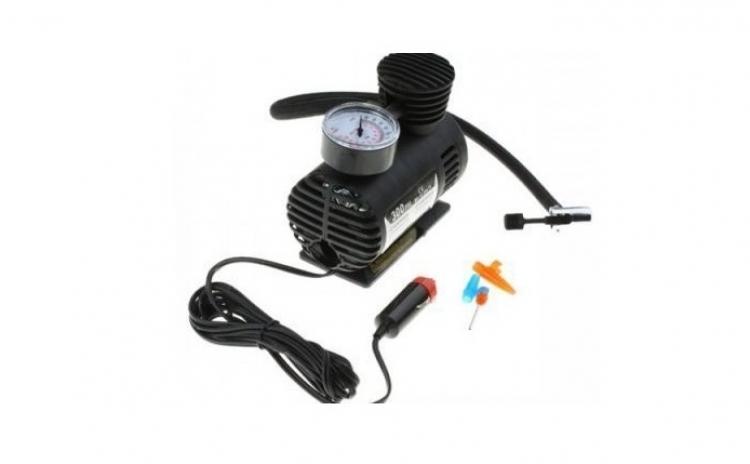 Compresor auto electric cu Manometru pentru roti, saltele, etc.