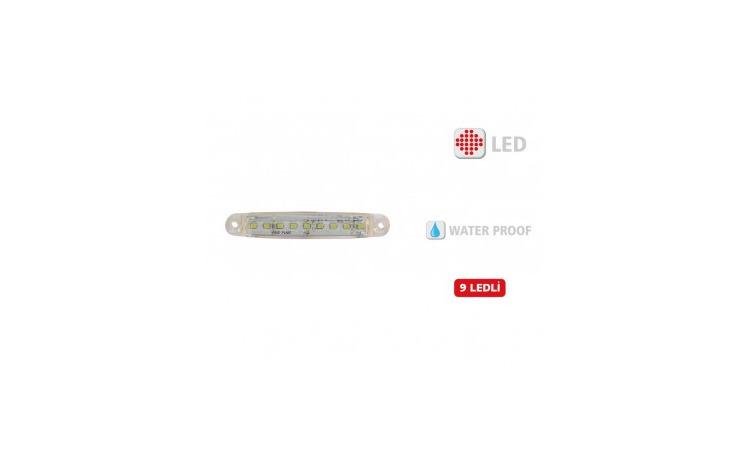 Lampa gabarit 9 led Alb 12V-24V Slim