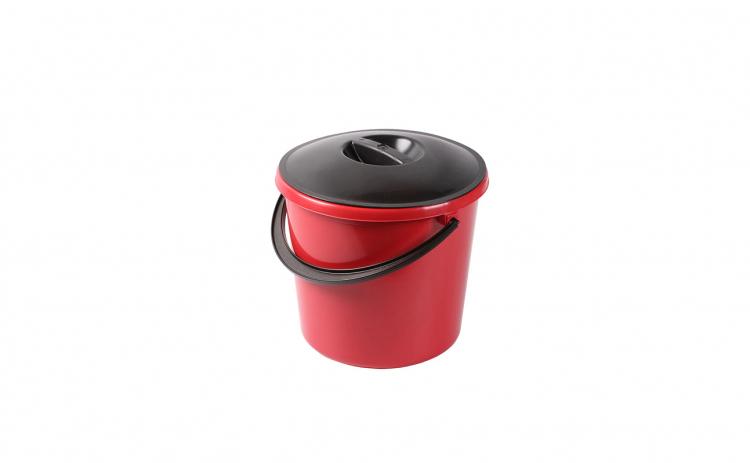 Galeata rotunda, 10 litri, Eco, cu capac