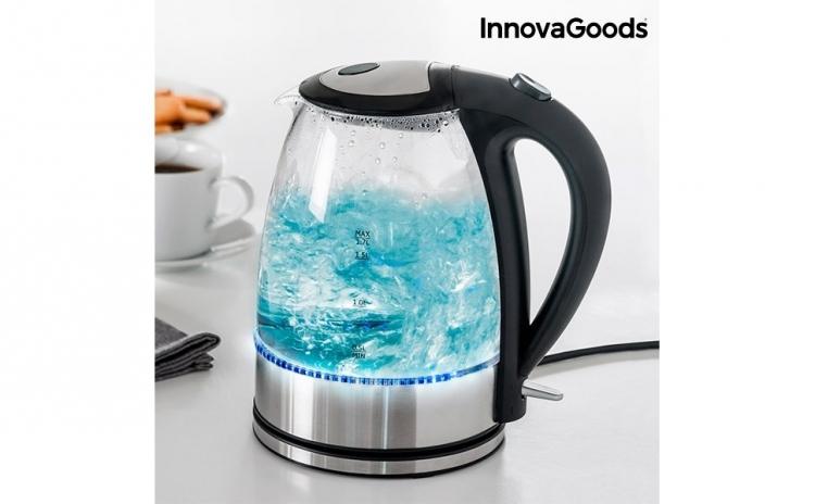 Fierbator de apa cu lumina LED