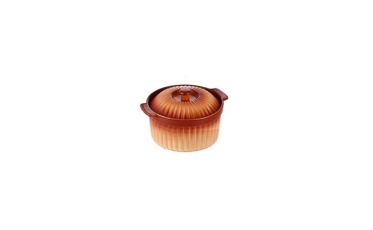 Cratita ceramica rotunda cu capac,3