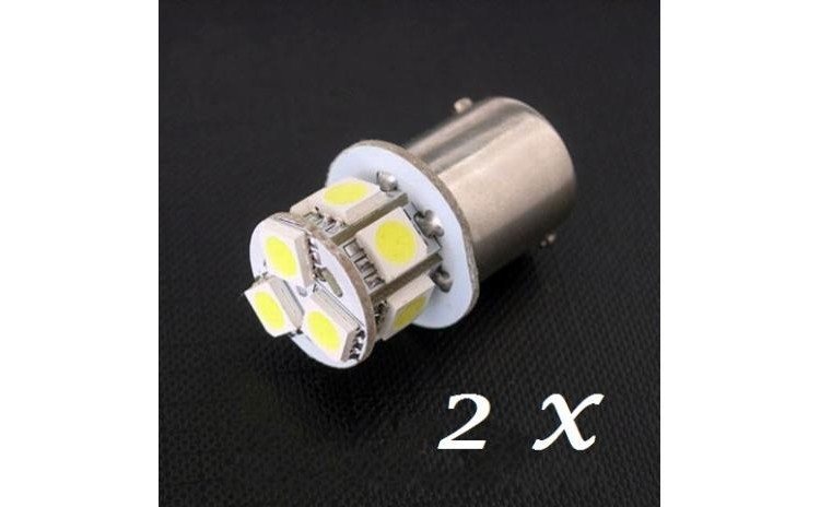 2 X Bec LED GALBEN Auto 8 SMD P21W