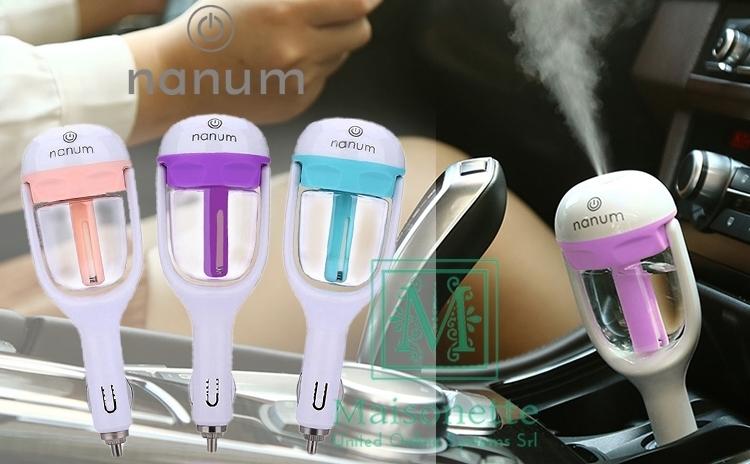 Aromaterapie la fiecare drum! Difuzor original Nanum de uleiuri esentiale, umidificator si purificat