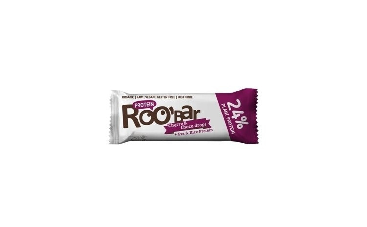 Baton proteic cirese ciocolata raw bio