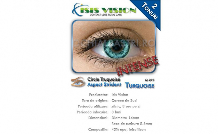Lentile de contact turcoaz