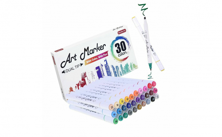 Set Markere 24 culori subtiri
