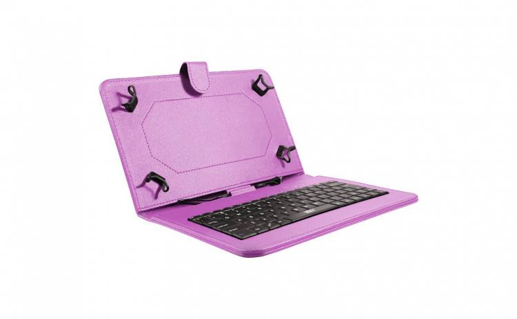 Husa tableta model X cu tastatura, Mov