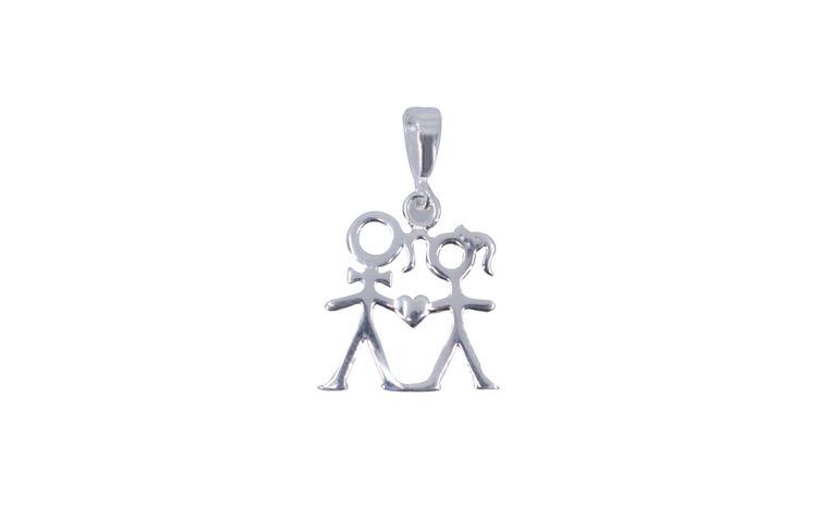 Pandantiv Argint 925, Cuplu Contur si