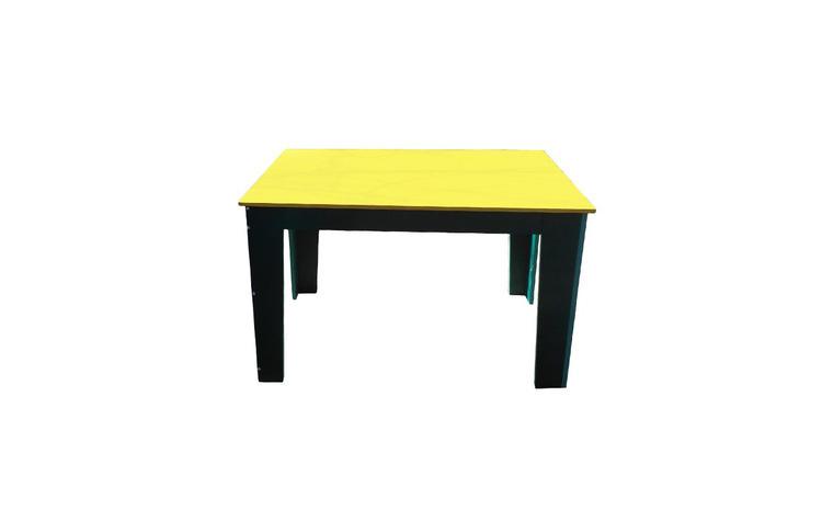 Masa pentru gradina galbena cu verde din