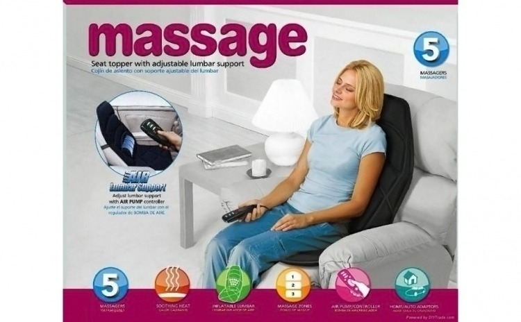 Husa de masaj cu perna si incalzire 5 programe