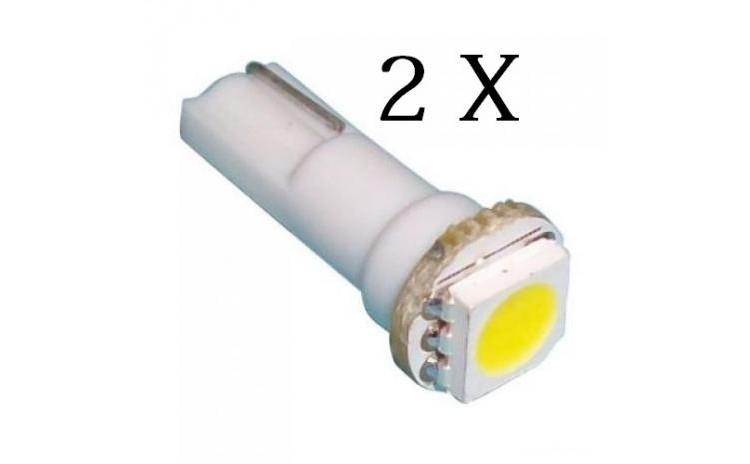 2x LED Leduri T5 pentru bord ALB, 1 smd