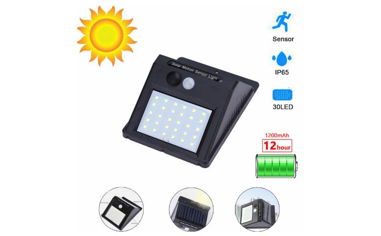 Set 5 lampi solare cu senzor de miscare,