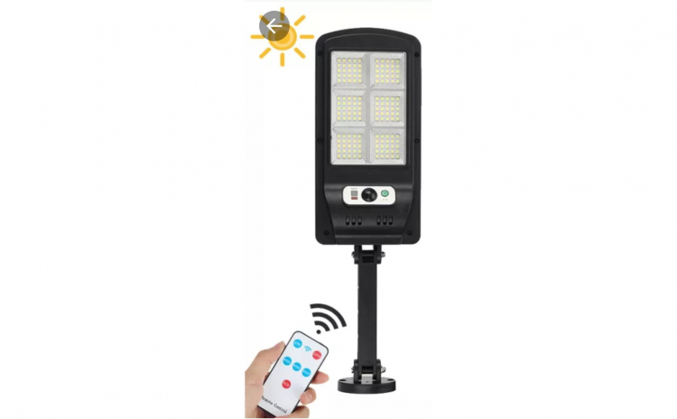 Lampa solara 30 w cu 150 de led-uri