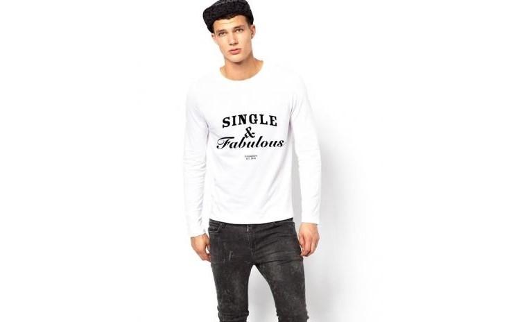 Bluza alba, barbati, Single &