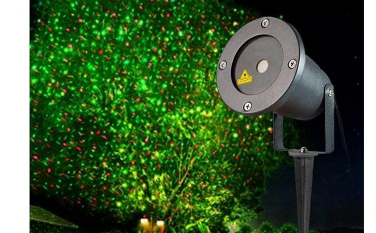 Proiector laser de exterior stele miscatoare si joc de lumini