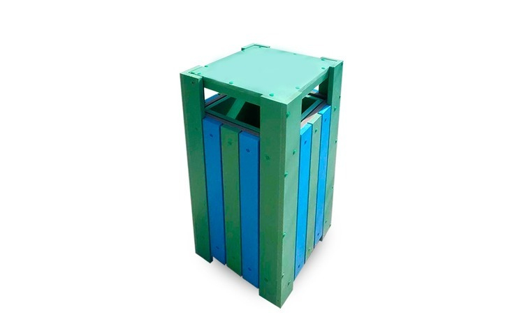Cos de exterior pentru gunoi cu capac