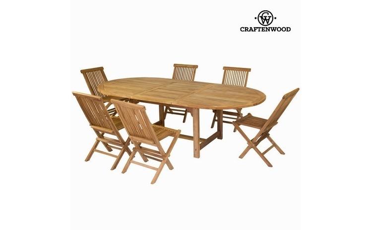 Masa extensibila si 6 scaune by Craftenwood