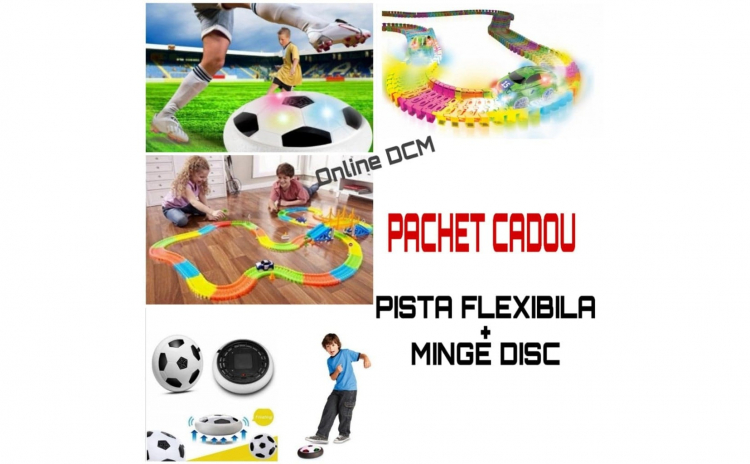 Pista flexibila 220 piese + Minge disc