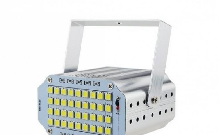 Mini proiector cu 24 leduri albe, functie stroboscop.