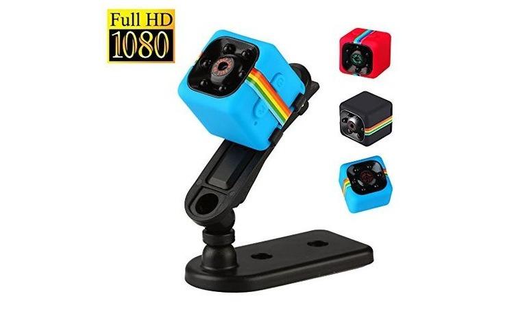 Mini camera spion SQ11, Full HD 1080p, Audio Video, Night Vision, albastra