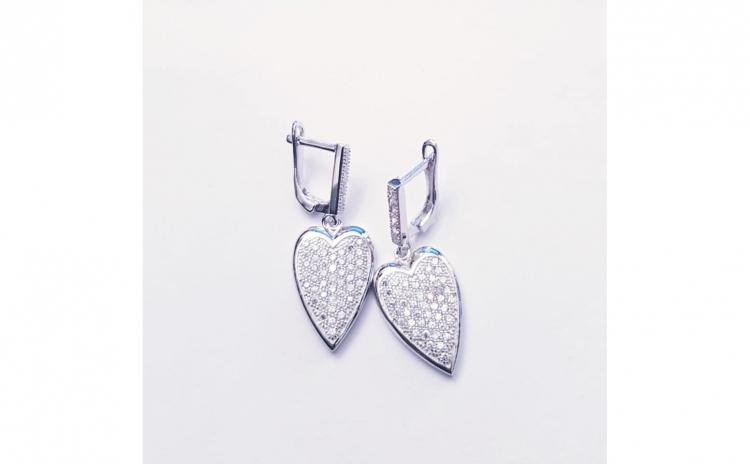Cercei din Argint forma inima
