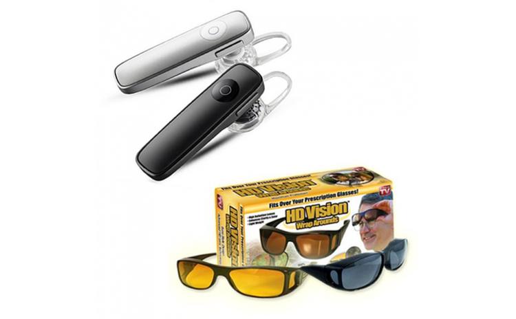 Casca Bluetooth + Set 2 perechi ochelari