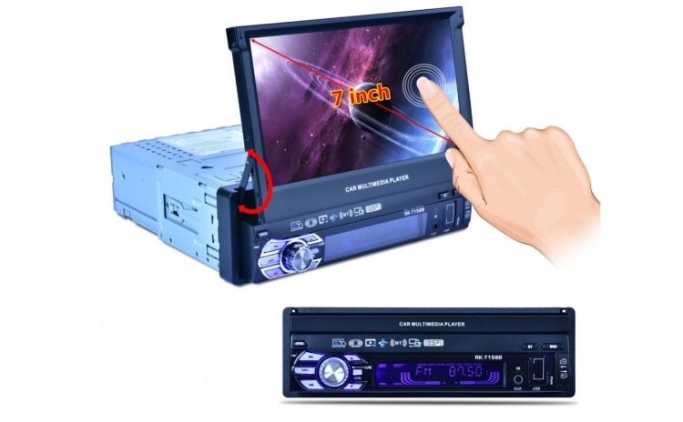 MP5 Player auto - Monitor HD reglabil