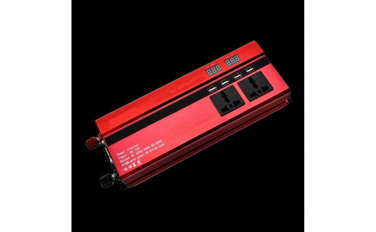 Invertor auto 2000W, 4 USB, 3 iesiri 12V