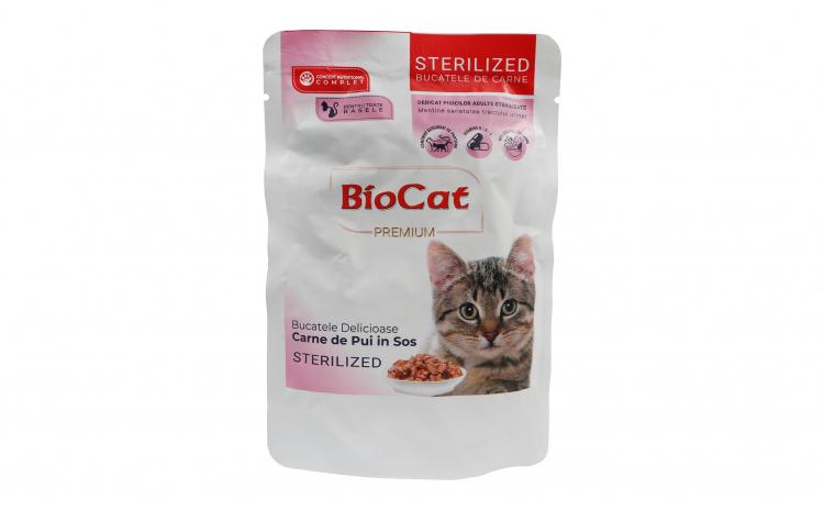 Biocat Plic Sterilizate Pui In Sos 85gr