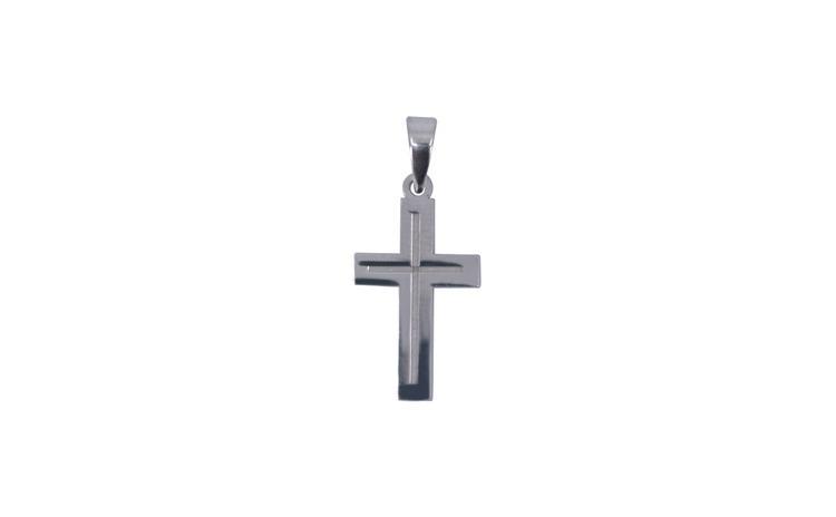Pandantiv Argint 925 Cruce Rodiata +