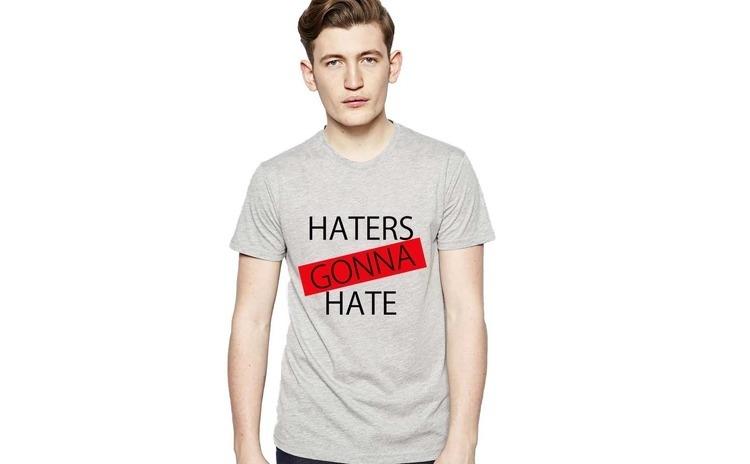Tricou barbati gri - Haters Gonna Hate