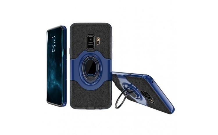Husa Samsung Galaxy A8 2018 Ipaky Ring Albastru