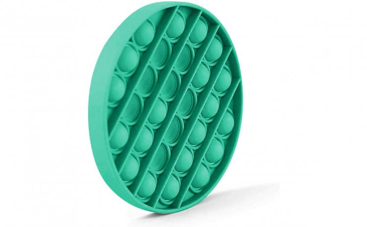 Jucarie POPIT din silicon 12 cm verde